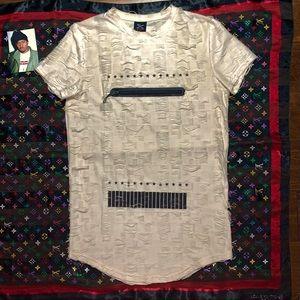 ★ Rare Cream Distressed Street Wear Zip Shirt ★
